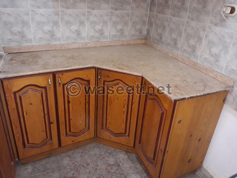 مطبخ خشب بالرخام للبيع