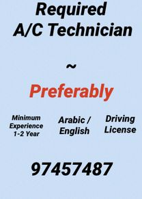 Wanted Air Conditioning Technician/Looking For AC Technician...