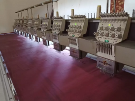 Computer embroidery machine required
