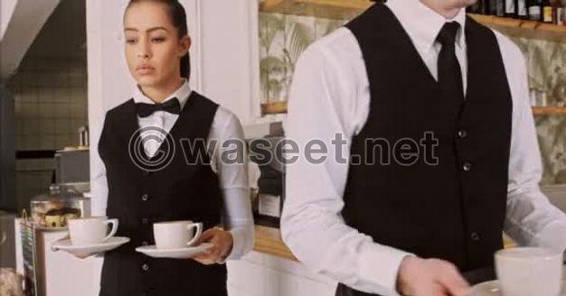 مطلوب مضيفة / نادل / نادلة / شيف كوميس / فرصة عمل رجل شيشة في  دبي.