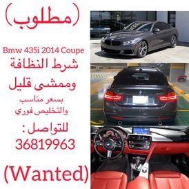 مطلوب BMW 435i Coupe 2014