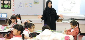 معلمة أردنية مستعدة لاستقبال أولادكم