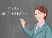 معلمة ماث لمساعدة الطلاب