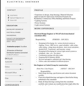 مهندس كهرباء ابحث عن عمل