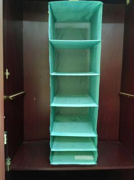 Shelves inside a cupboard