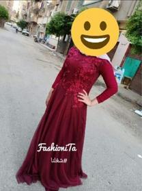 فستان سهره طويل للبيع المنوفيه
