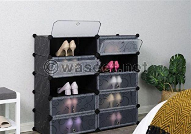 خزائن ملابس وأحذية من البلاستيك المقوى