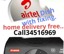 .Airtel satellite dish with fixing