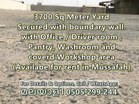 3700 Square meter Yard For rent in mussafah industrial area