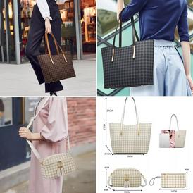 4 pieces tote handbag for sale