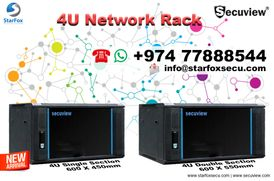 4U single and double section network rack