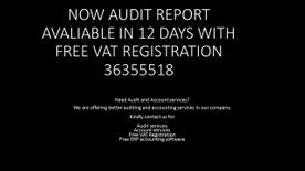 AUDIT REPORT IN 12 WORKING DAYS  CONTACT: 36355518