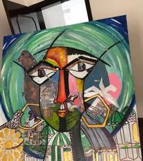 Acrylic hand painting