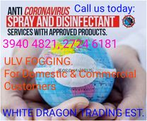 Anti Coronavirus treatment by WHITE DRAGON, BAHRAIN.
