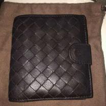 Botega Veneta brown leather wallet folding .