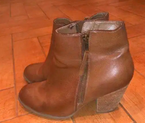 Brown Fax Leather Boots
