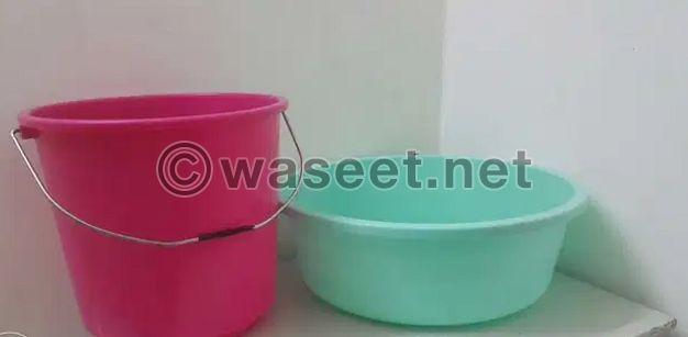 Bucket & Wash Basin
