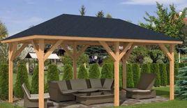 Building Gazebo made of Fine Wood