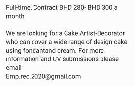 Cake Artist/Designer