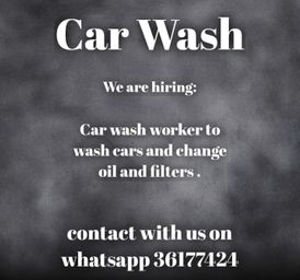 Car wash worker