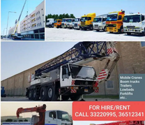 Cranes , Trailers, Forklift & Hiabs for rent