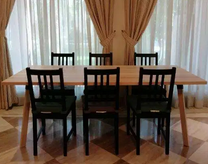 Dining table set 6 mth old