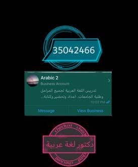 دكتور لغة عربية لتدريس جميع المراحل