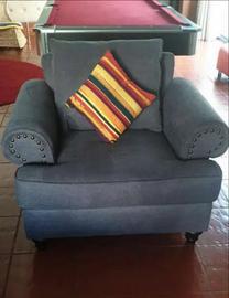 Elegant grey sofa from homes r us