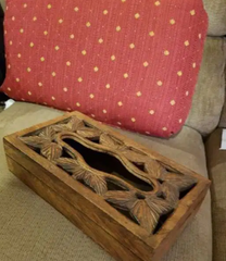 For Sale Handmade Wood tissue box