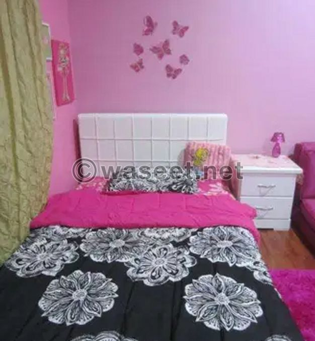 For sale White bed with side table