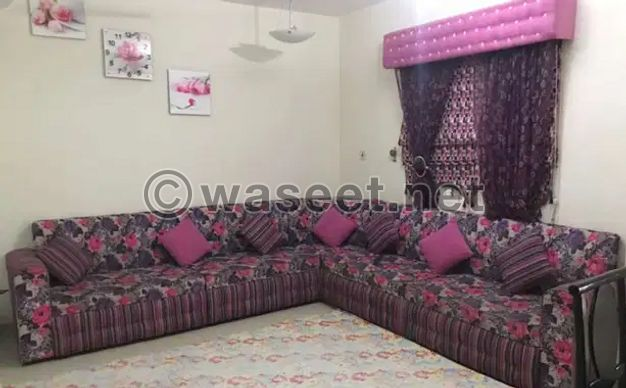 For sale sofa set and two curtain