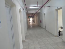 Furnished room in industrial area