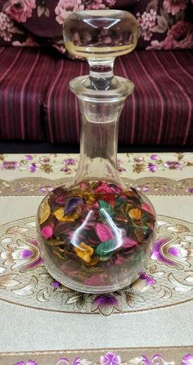 Glass decoration Bottle