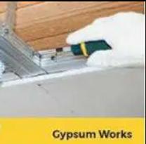 Gypsum works