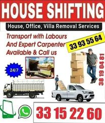 House villa offices stores shop and Apartment Shifting Call:33935564