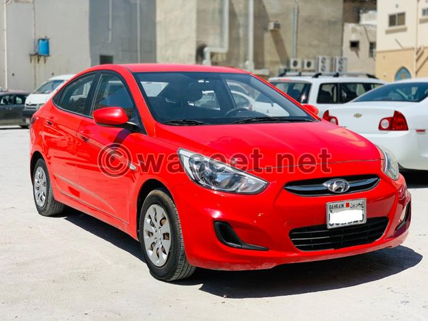 Hyundai Accent 2016 Red