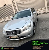 INFINITI EXCELLENCE M37S MODEL 2012