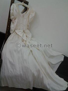 فستان زفاف قماشه كوبونيه حرير