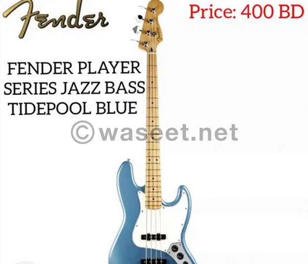 New fender player series jazz bass maple-tide pool blue.