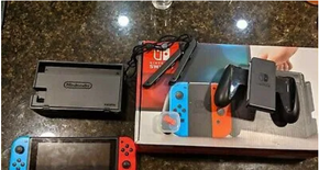 Nintendo switch with 40 games