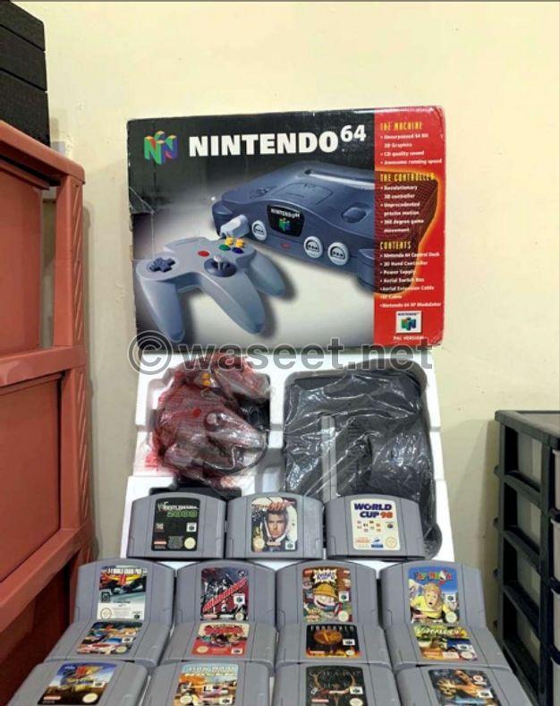 ORIGINAL N64 CONSOLE WITH ORIGINAL GAMES PAL