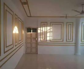 Paint gypsum design, tiles work