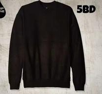 Plain black men's sweatshirt