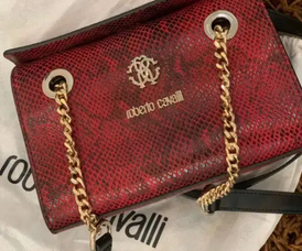 Roberto cavalli red shoulder bag