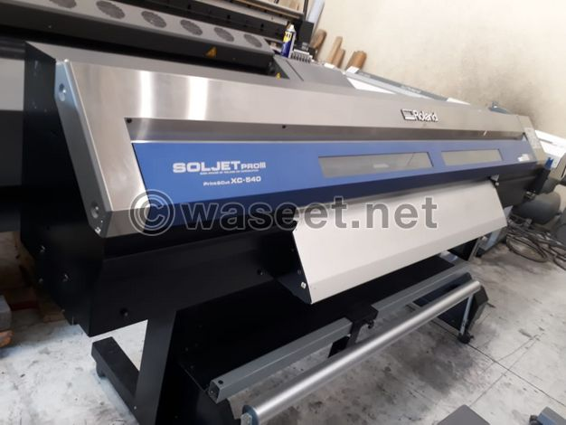 Roland Eco solvent print and cut machine