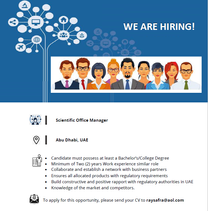 Scientific Office Manager is required