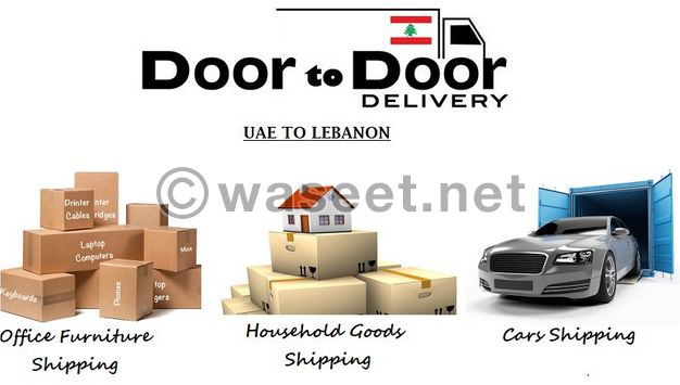 Shipping of full house furniture with door