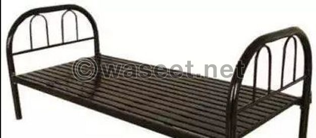 Single Steel Bed With Mattress