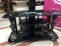 Glass TV table good condition For Sale