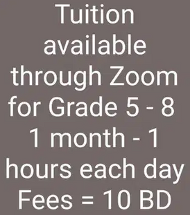 Tuition available for Gr 5